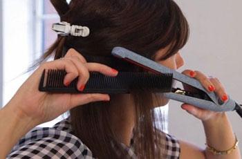 Домашнее выпрямление волос с кератином