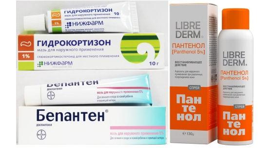 Аптечные препараты для смягчения раздраженной кожи