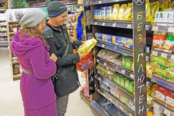 В магазинах широкий выбор продуктов без глютена