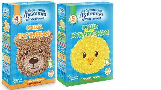 Злаковые порошки для грудничков Бабушкино Лукошко