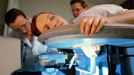 Биопсия груди под контролем маммографии