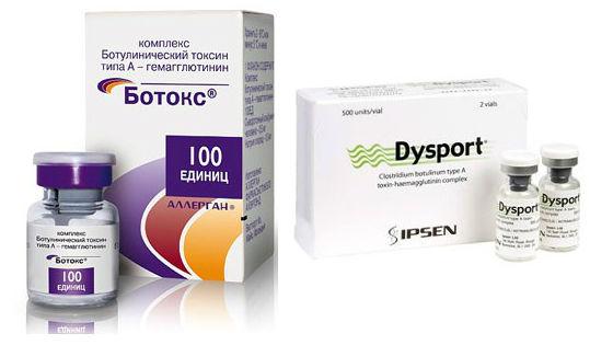 Препараты ботулотоксина для омоложения