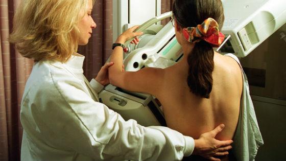 Маммография для диагностики уплотнений в женской груди