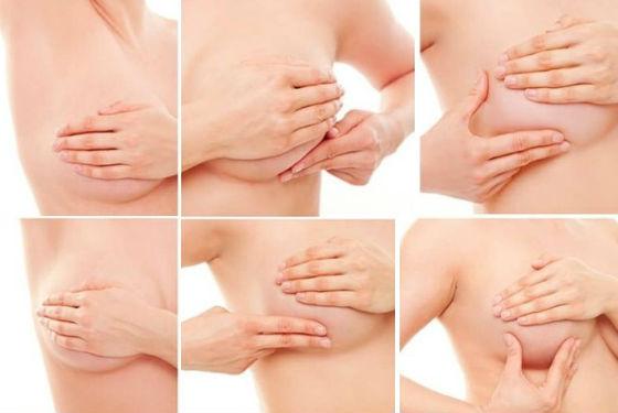 Обследование груди поэтапно в домашних условиях