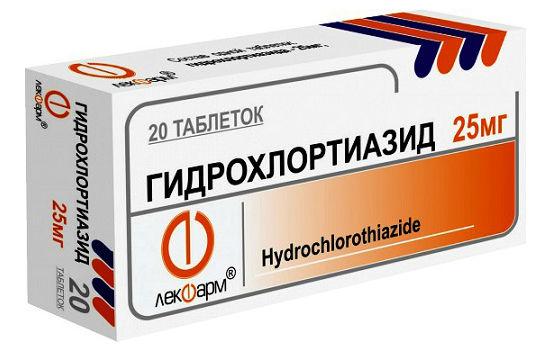Тиазидный диуретик для снятия отечности