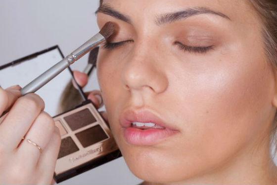 Как наносить коричневые тени