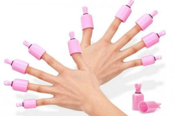 Специальные колпачки для снятие гель-лака с ногтей