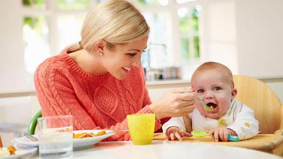 Режим утреннего кормления ребенка