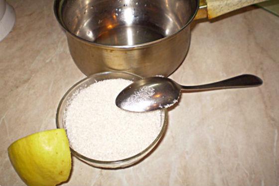 Ингредиенты для приготовления наиболее популярного состава для шугаринга