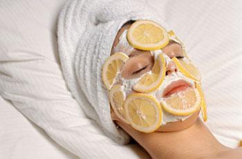 Лимонная маска для кожи лица от пигментных пятен