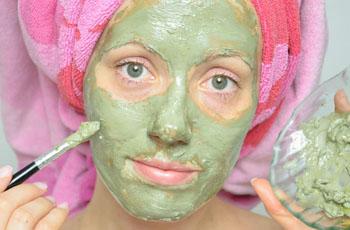 маски из голубой глины для проблемной кожи лица