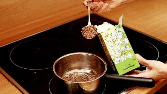 Один из способов предполагает запаривание семени на плите