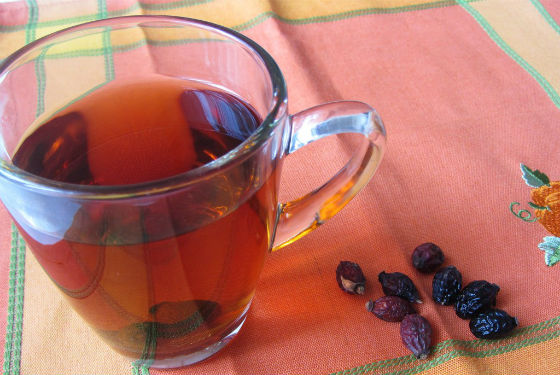 Чай из ягод шиповника для чистки организма