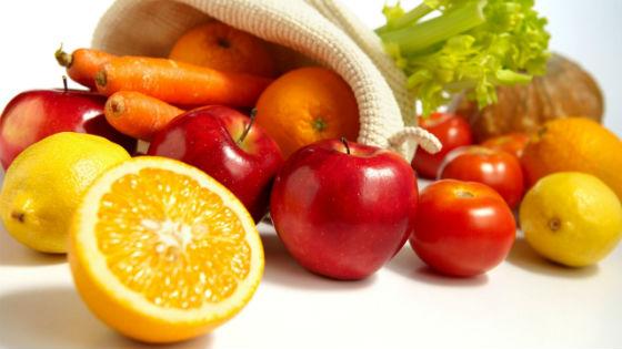 Разрешенные овощи и фрукты
