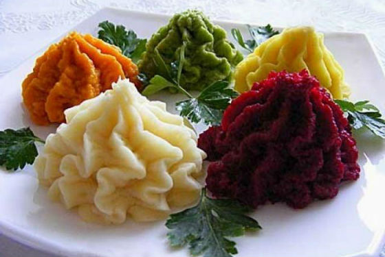 Пюре из овощей для первого прикорма