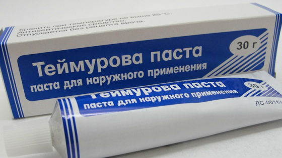 Теймурова паста для устранения неприятного запаха стоп