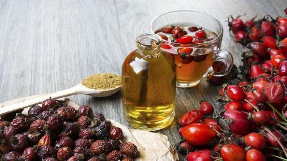 Плоды, коренья и масло шиповника