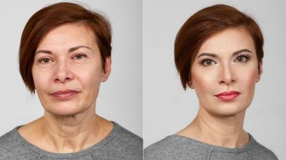 Пример омолаживающего визажа с лифтинговым эффектом