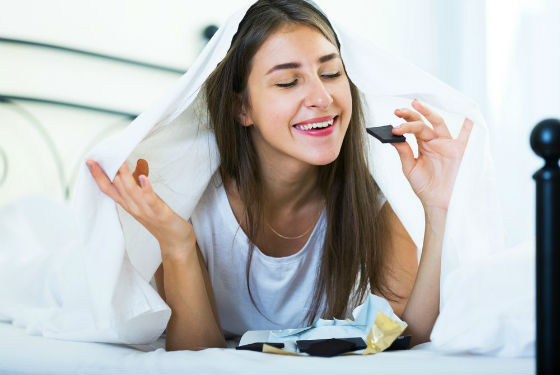 Шоколад усиливает выработку эндорфинов и серотонина