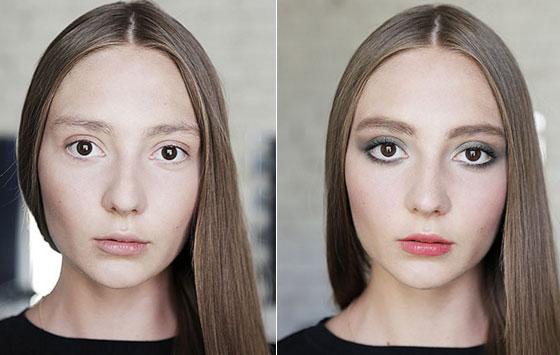как при помощи макияжа расширить лицо