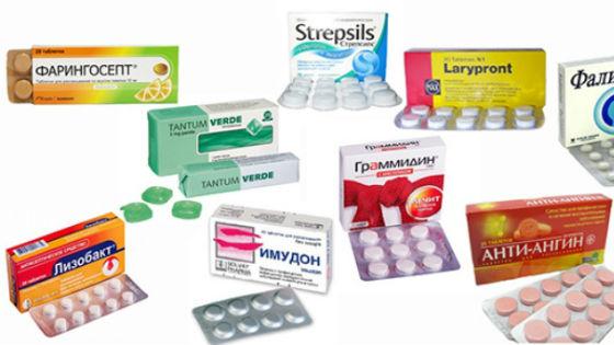 Противовоспалительные таблетки для рассасывания