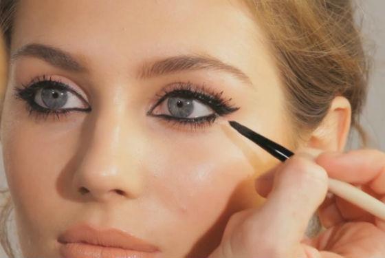 Правильное нанесение теней в макияже большеглазых женщин
