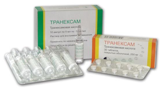 Препараты транексамовой кислоты уменьшают объем выделений во время менструации