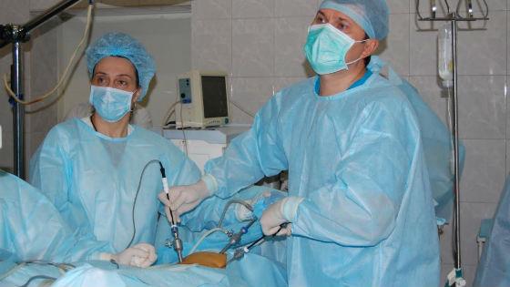 Оперативное лечение опухолей яичников