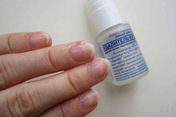 Лак для снятия ороговевшей кожи вокруг ногтя Умная Эмаль