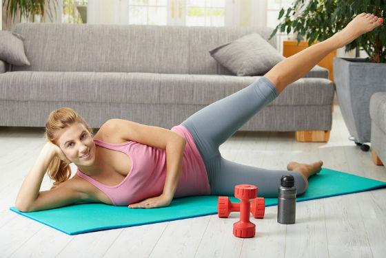 Упражнения на бедра как главное дополнение к диете