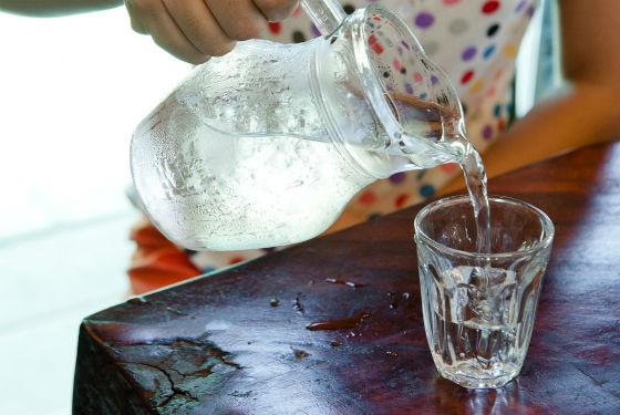 Употребление большого количества воды для очищения организма