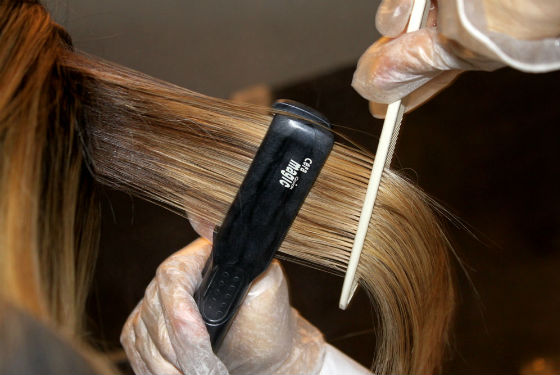 Выпрямление волос после кератирования