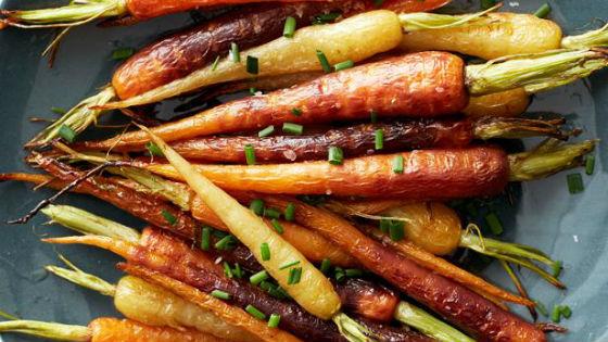 Приготовленная на гриле морковь